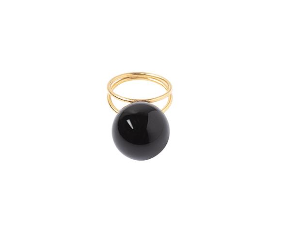 Onyx double ring