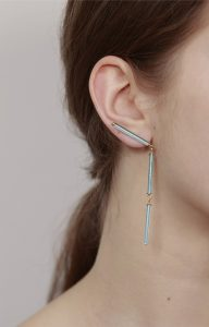 Neon blue earrings