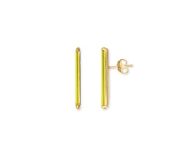 Neon Lemon short earrings