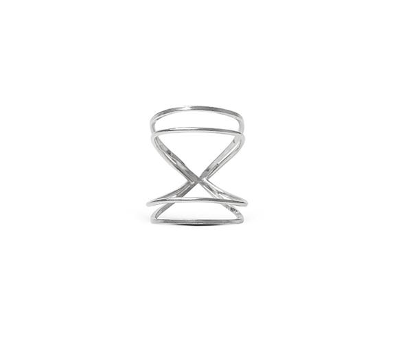 Rhodium Double Infinity ring