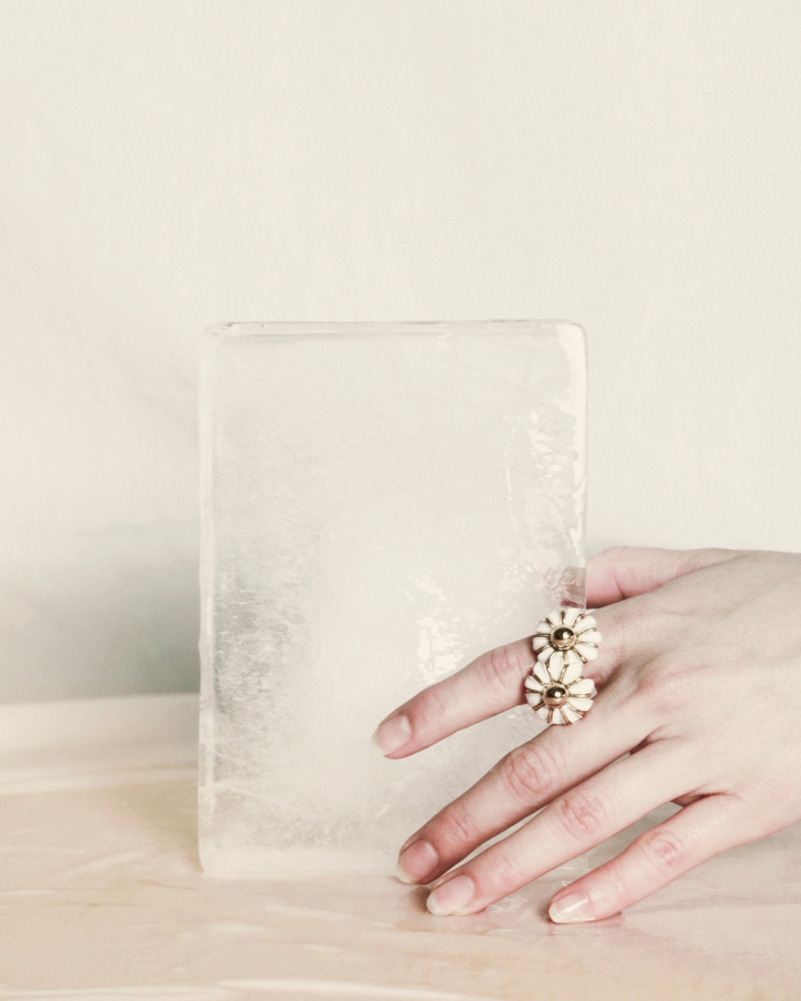 Daisy gold ring