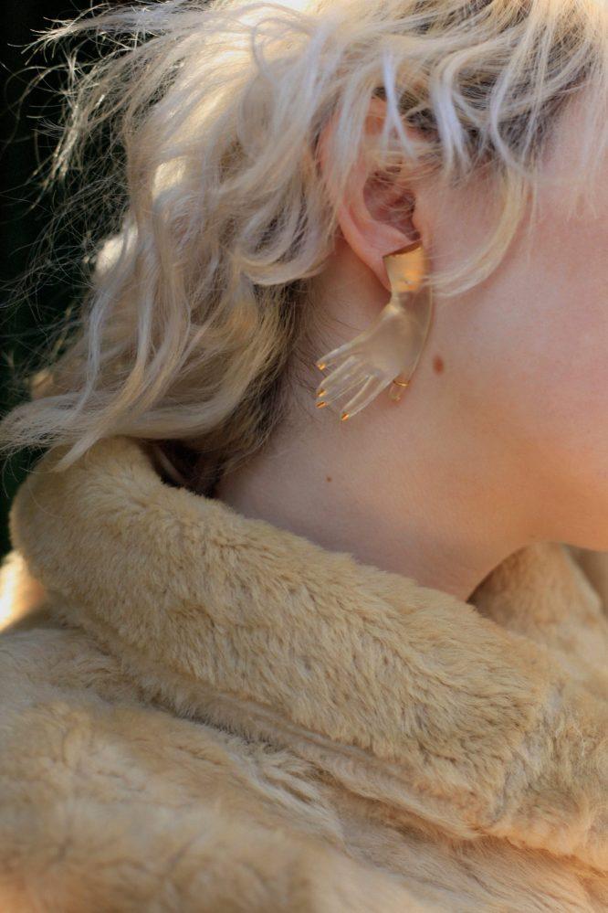 Renaissance Hand earring