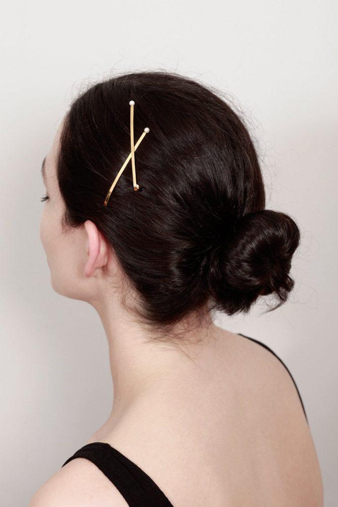 Tocado joya pinzas para el pelo