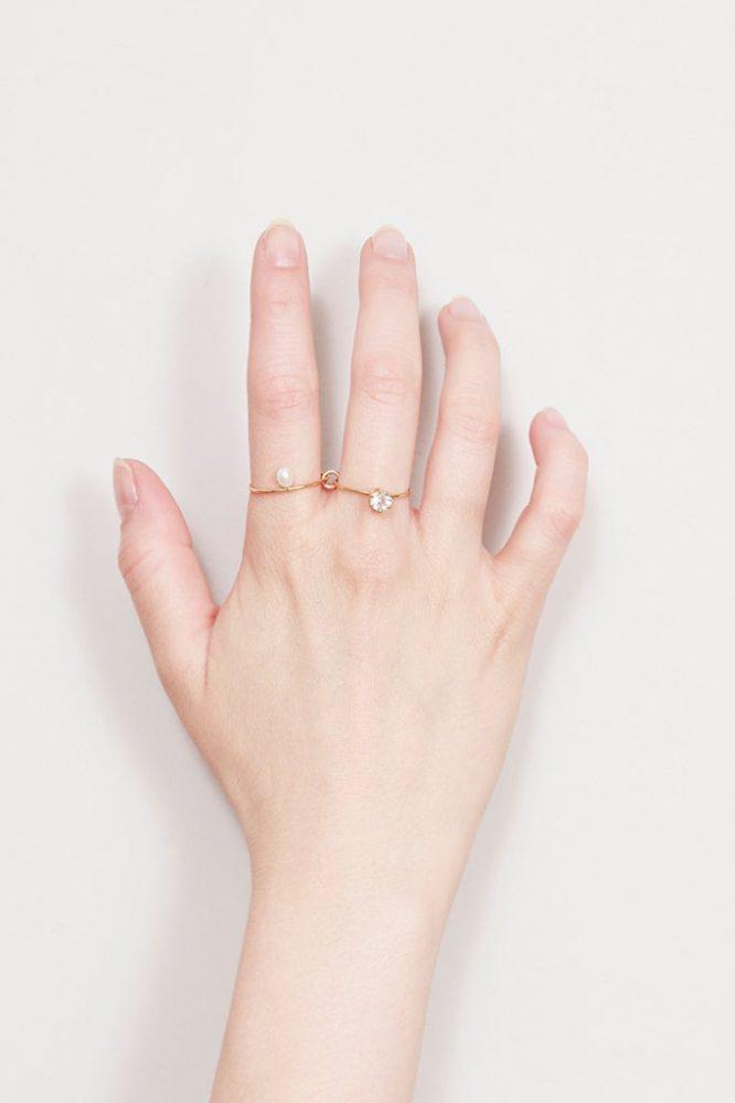 Anillo doble de oro para dos dedos