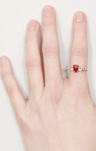 Sacred heart engagement ring