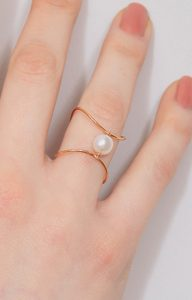 Pearl Infinity ring