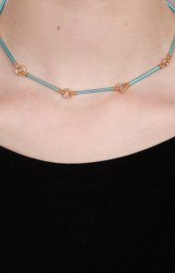 Neon blue necklace