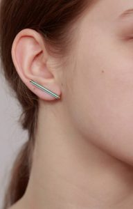 Neon Blue short earrings