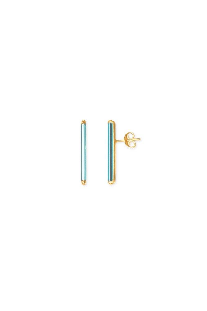 Neon Blue short earrings