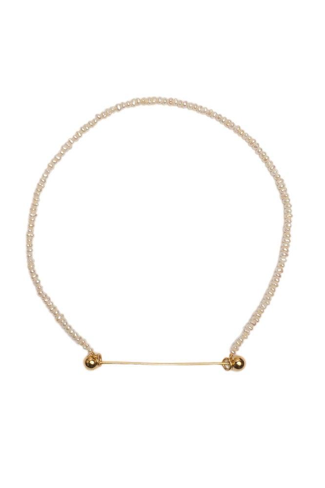 Original collar gargantila de perlas