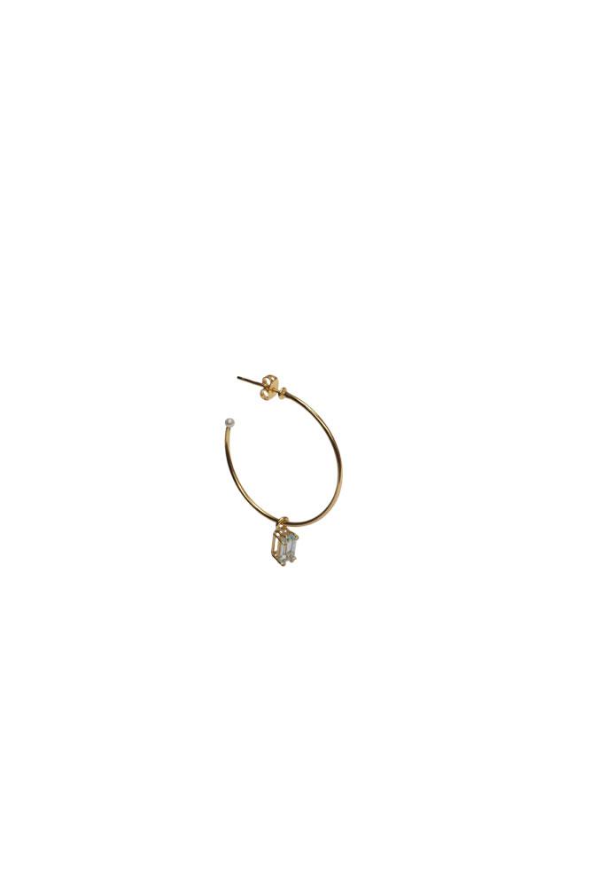 Pearl drop hoop
