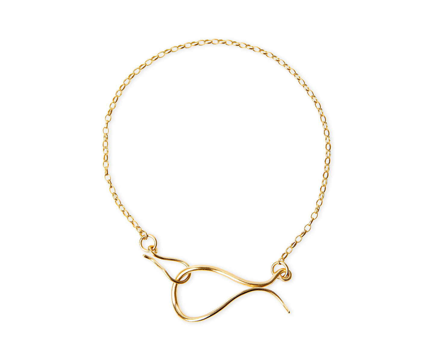 Gold choker with original clasp