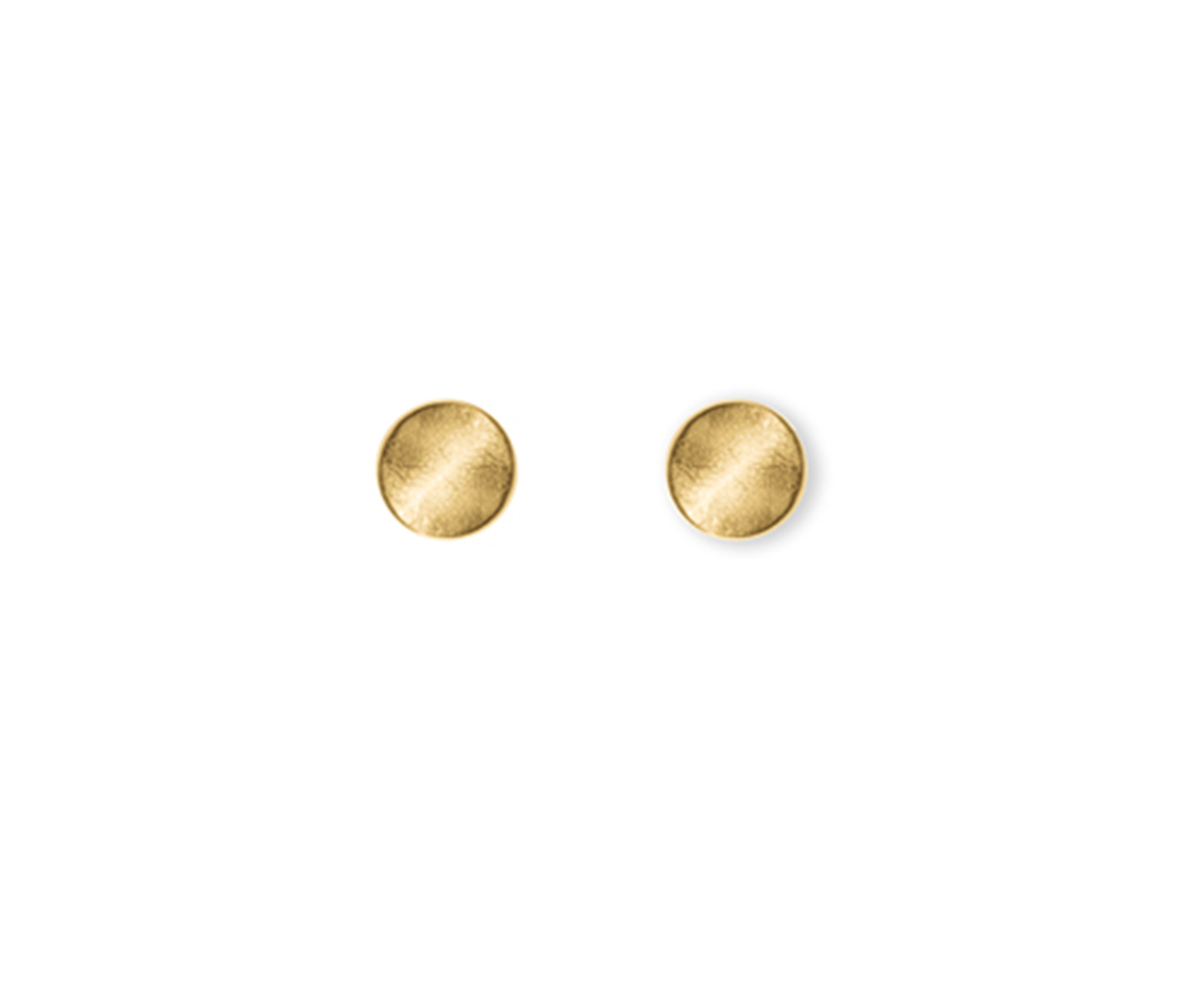 Gold earring with false dilation