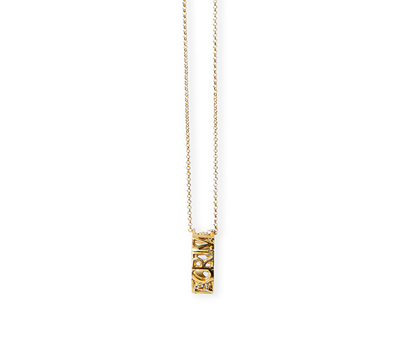Gold necklace with love ring
