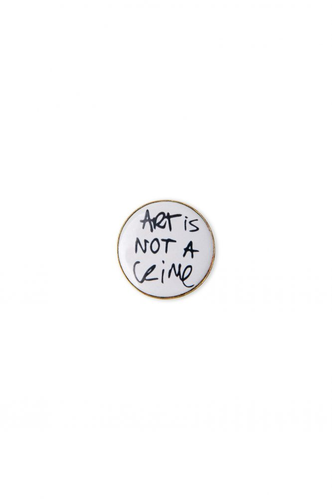 brooch pin jewelry ART IS NOT A CRIME