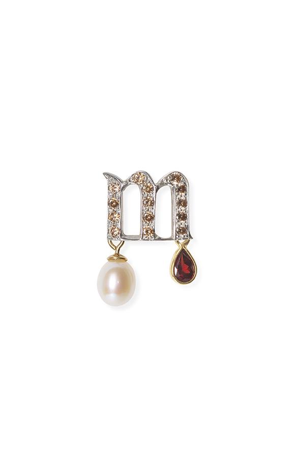 Letter M earring I