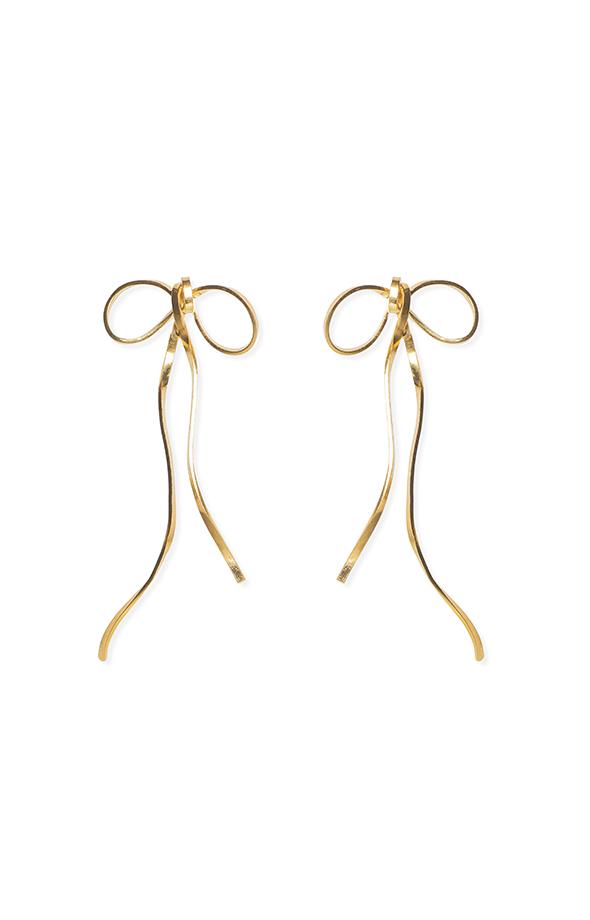 Little bows gold earrings