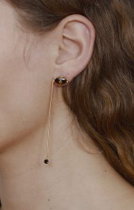 Santa Lucia mismatched black earrings