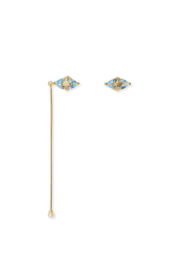Santa Lucia mismatched blue earrings