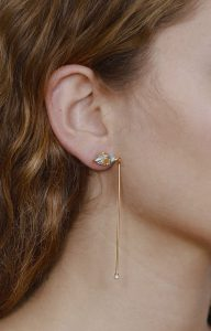 Santa Lucia mismatched blue earrings