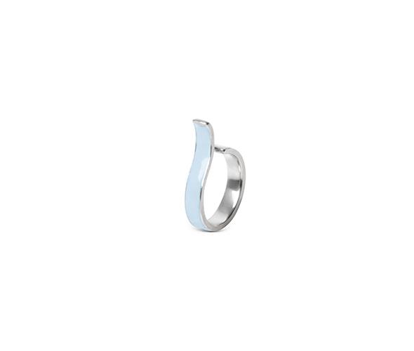 Blue ear cuff