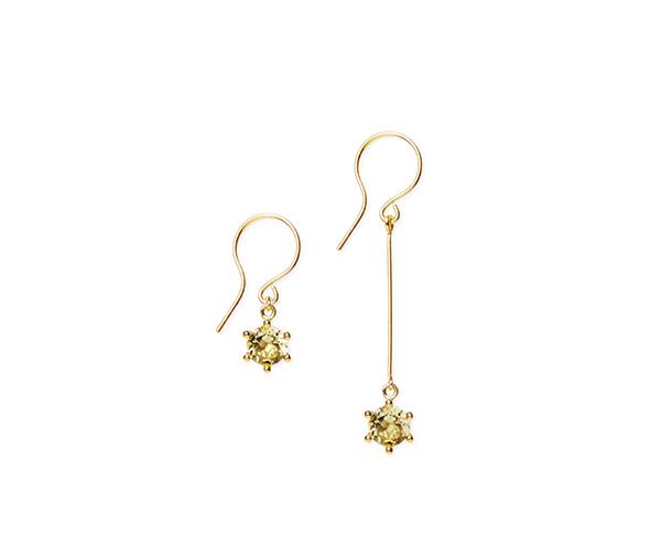 Large lemon earrings