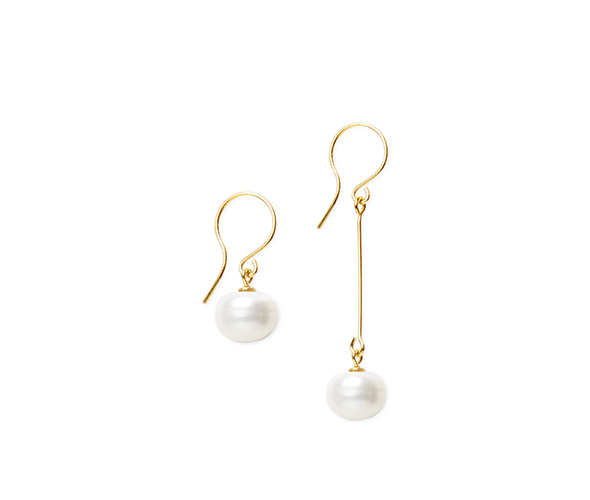 Large white earrings