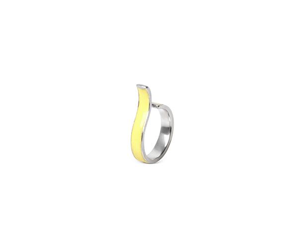Yellow ear cuff