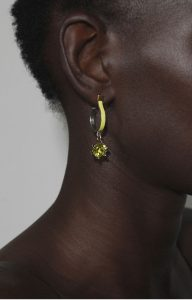 Yellow Moon earrings