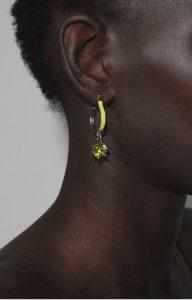 Yellow Moon earrings