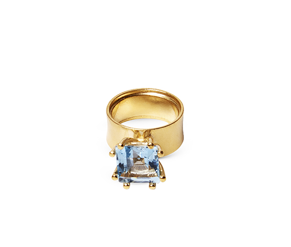 Blue Moon wide ring