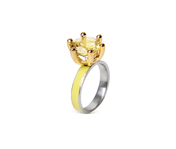 Yellow Moon ring