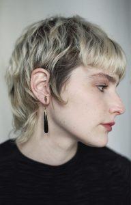 Black Safety Pin Earrings