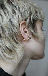 White Punk earring