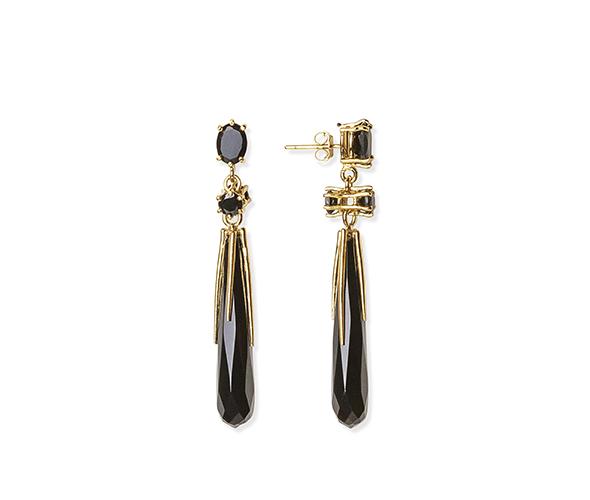 Two-sided Black Earrings