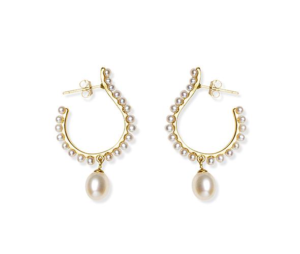 White Mourning Earrings