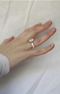 White Mourning Ring